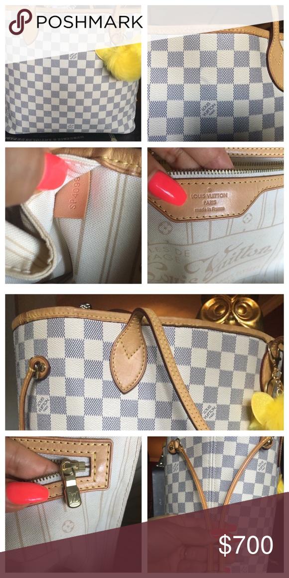 e44430c59ce Louis Vuitton delightful mm Damier azur Comes with a charm 💗 it s 100%  authentic no