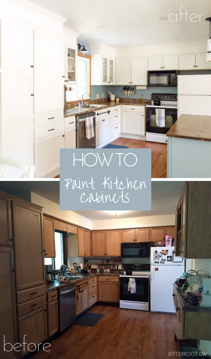 How To Paint Kitchen Cabinets Bitterroot Diy Built In Cabinets Kitchen Design Painting Kitchen Cabinets