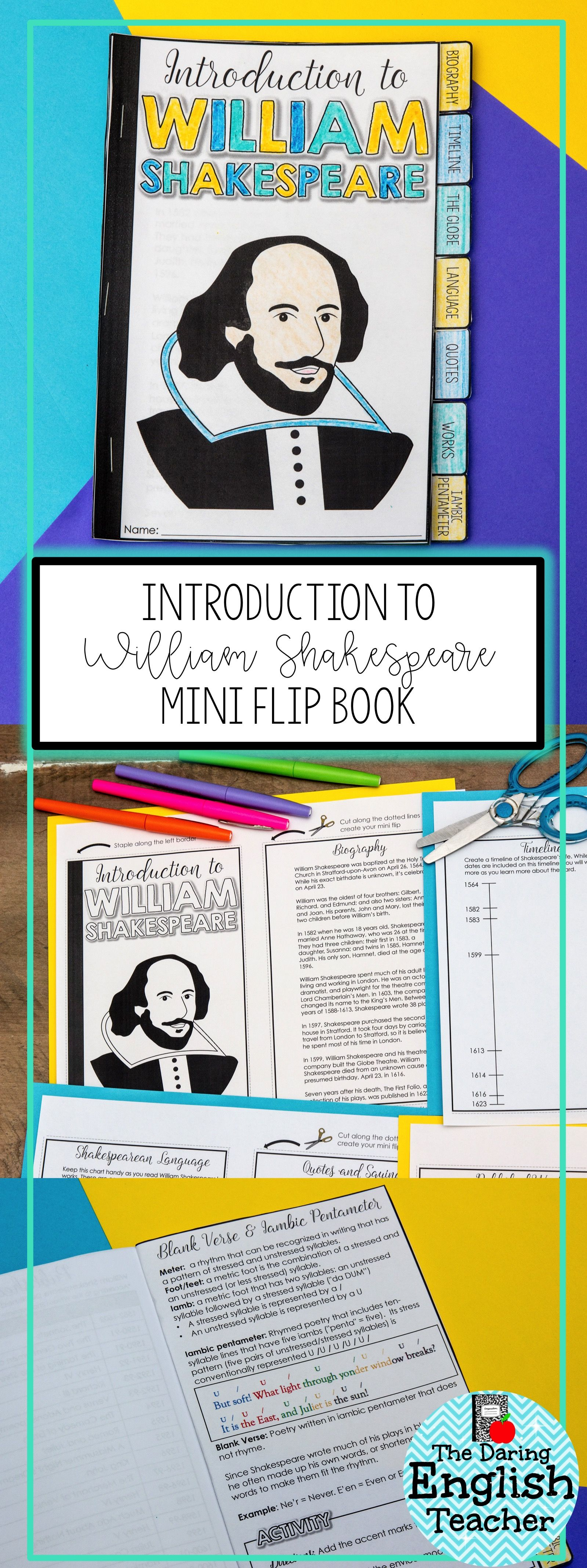 Introduction To William Shakespeare Mini Flip Reference