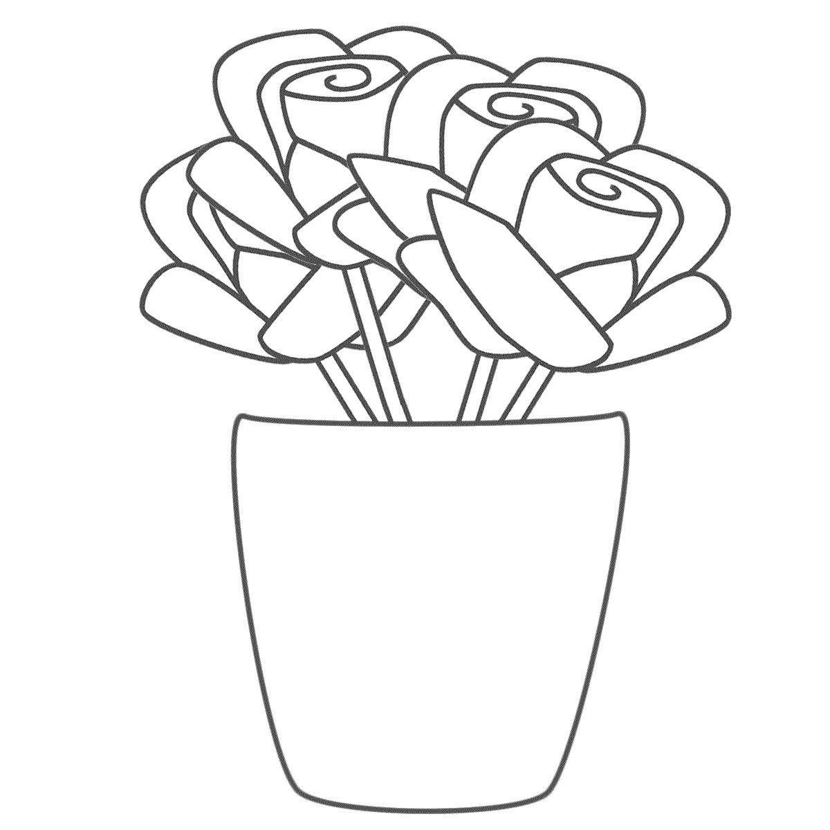 Free Printable Roses Coloring Pages For Kids Sketch Coloring Page ...