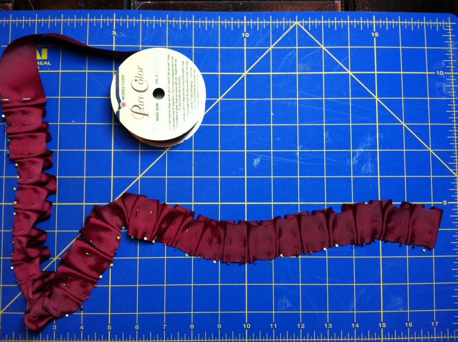 Image detail for -Willow Bean Studio ~ The Blog: Grosgrain Ribbon Flower Tutorial