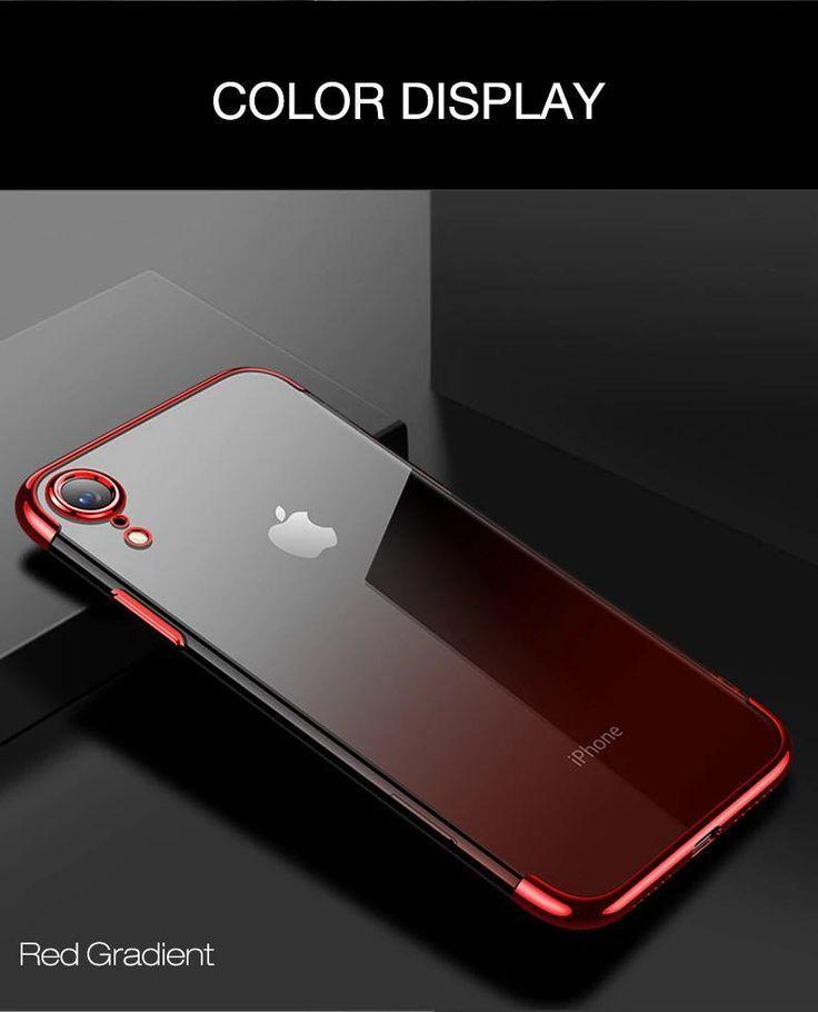 Luxury aurora gradient transparent phone case for iphone