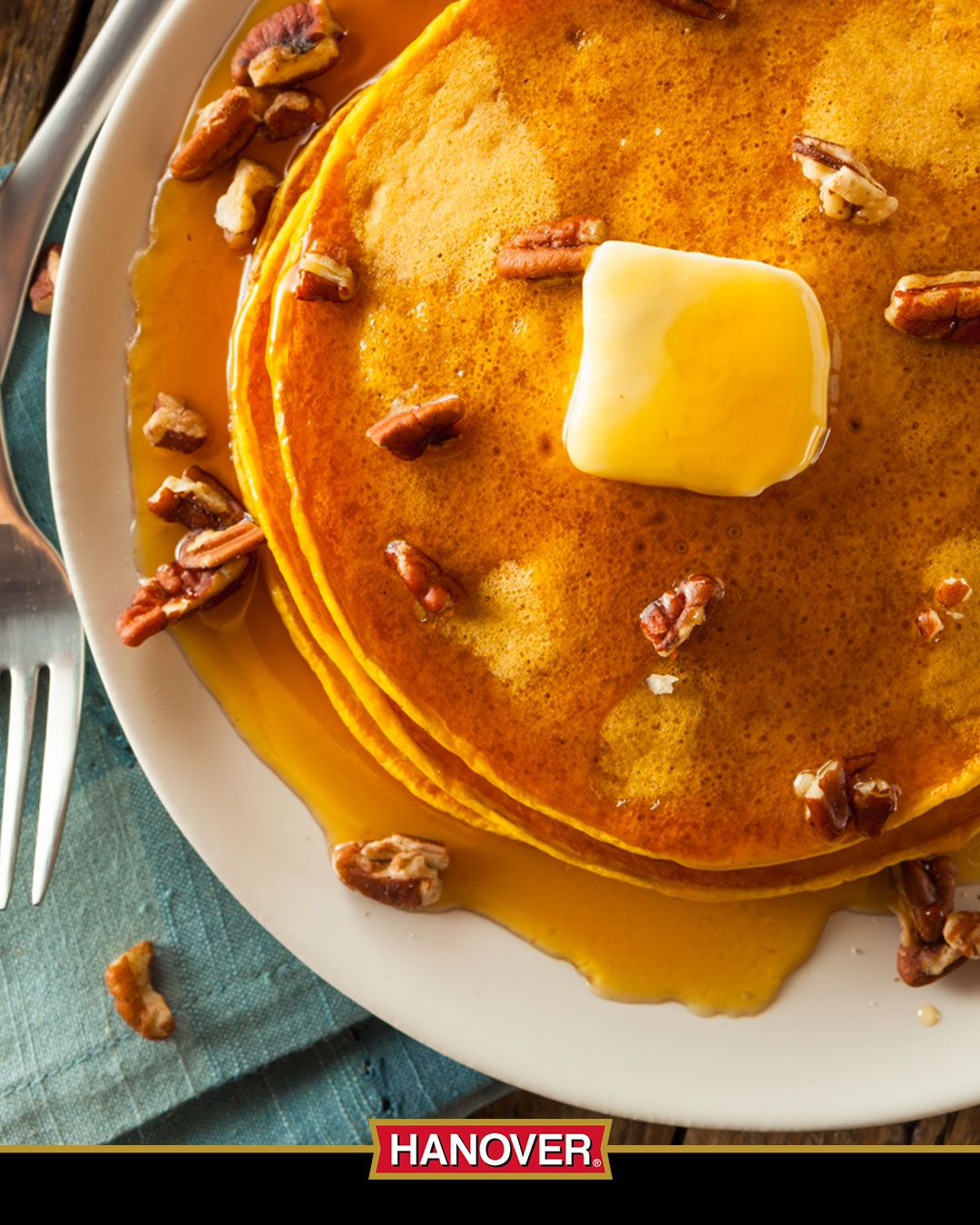 Who doesn't love a big ol' stack of pancakes for breakfast? These sweet potato pancakes will get your family off to a healthy start in the morning without sacrificing any of the flavor and texture they're used to. Hearty, comforting and better for you! #hanover #hanoverhappy #hanoverfoods #hanoverhealthy #coolrecipes #creativerecipes #easyrecipe #fitoliferecipes #fitrecipebox #healthrecipes #healthyrecipe #healthyrecipes #momsrecipe #pinterestrecipe #recipe #recipe4sucess #recipebook #recipebox  #pinterestrecipe