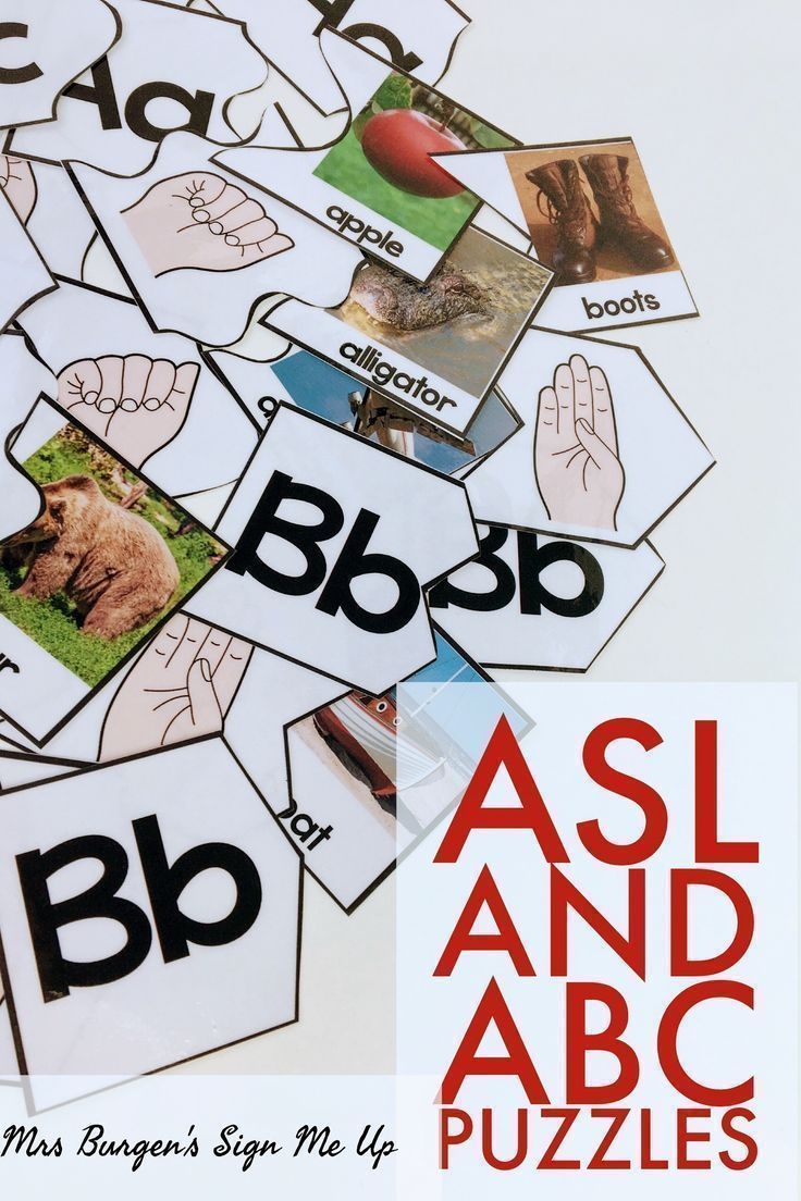 American Sign Language And Abc Puzzles    Sign Language