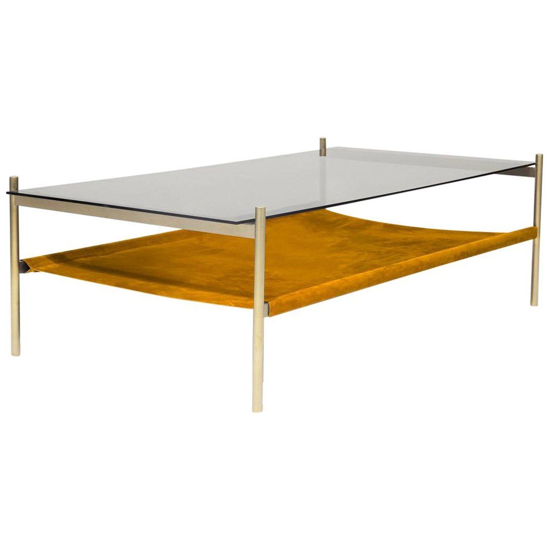 Duotone Rectangular Coffee Table Brass Frame Smoked Glass Saffron Suede Rectangular Coffee Table Coffee Table Smoked Glass [ 1500 x 1500 Pixel ]