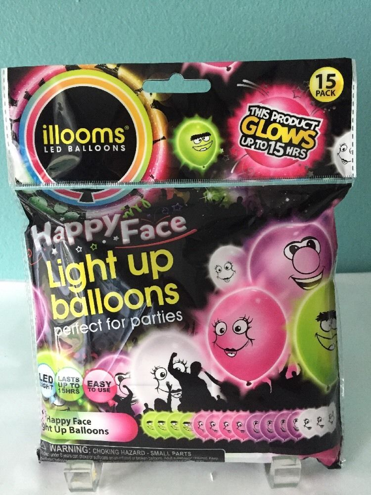 NewIllooms LED Mixed Colors Light Up Balloons 5 Pack Of Balloons Glow 15 Hours