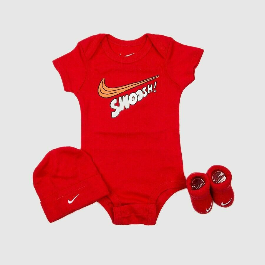 7b6f2eabae7e68 (eBay Sponsored) Nike 3 Piece Infant Baby Clothes Set Booties Cap Swoosh  Red White