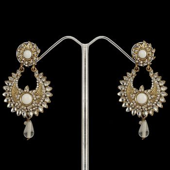 White Stone Studded Earring