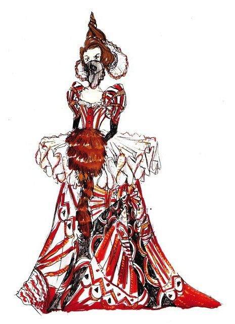 Costume Designer: Colleen Atwood, Movie: Alice in Wonderland (The Red Queen ...