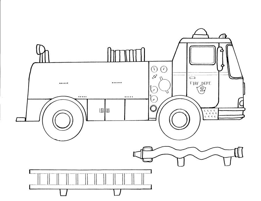This is an image of Impertinent Fire Truck Printable