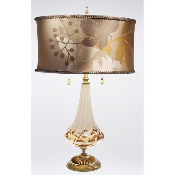 Kinzig Pearl Table Lamp 77af80 Has A Smoky Silver Hand Blown Glass Base,  With Metallic