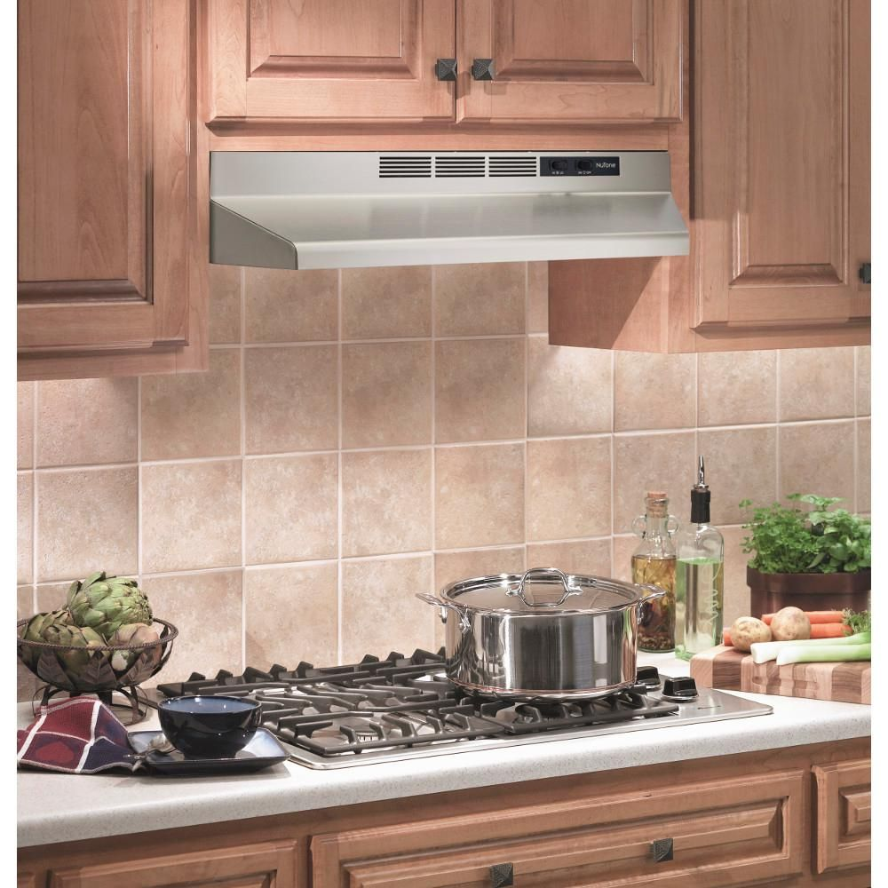 Broan Nutone Rl6200 Series 30 In Ductless Under Cabinet Range Hood With Light In Stainless Steel Rl6230ss The Home Depot Under Cabinet Range Hoods Range Hood Broan