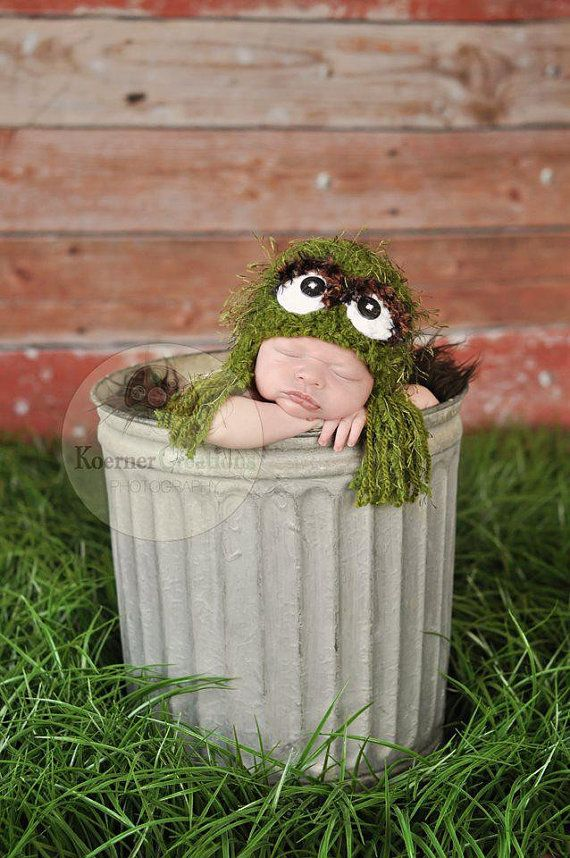 Grouch Tassel Hat Newborn photography prop by ModisteBee on Etsy, $38.00