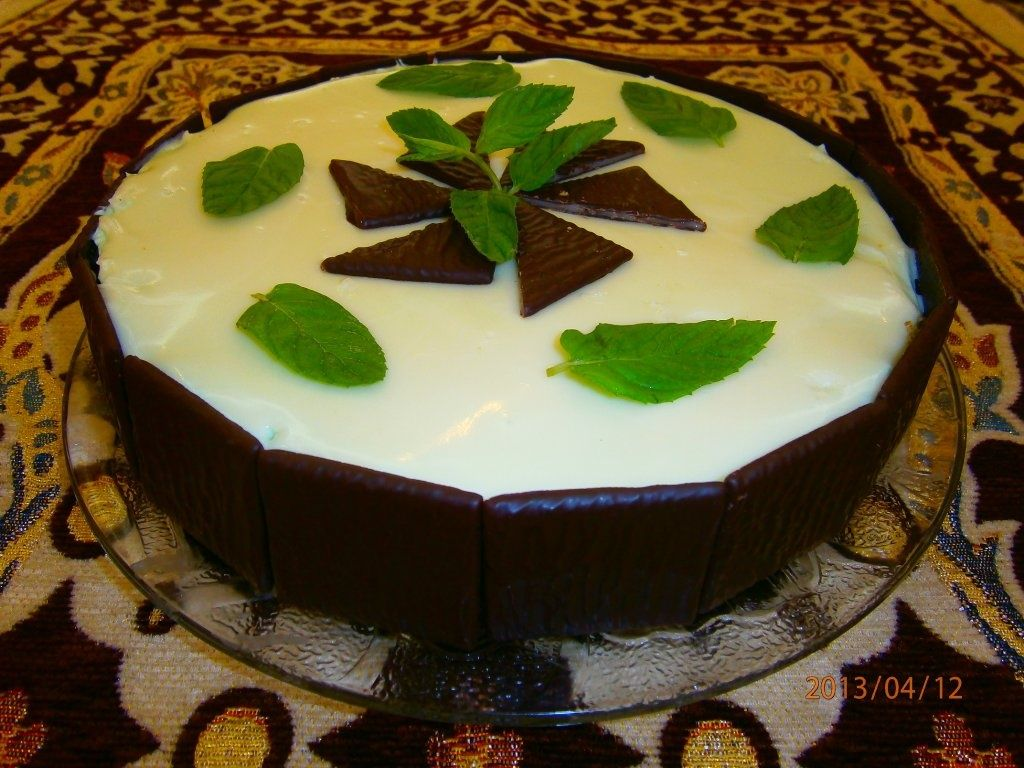 """Cheesecake """"After eight"""""""