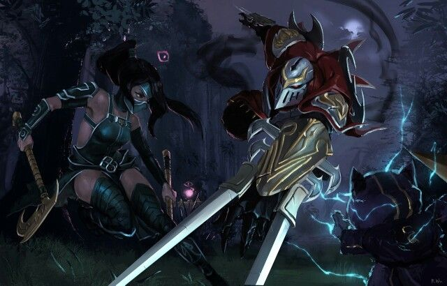 Zed Galaxy Slayer Wallpaper Hd 4k: Zed Akali And Kennen