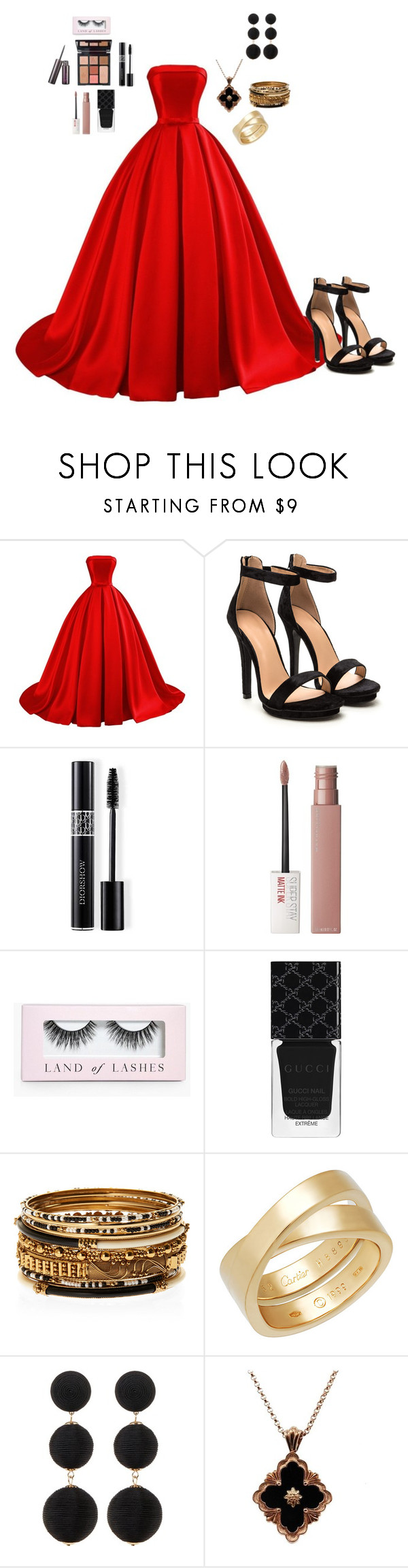 """Intensed"" by moge-tan ❤ liked on Polyvore featuring Christian Dior, Charlotte Tilbury, Maybelline, Boohoo, Gucci, Amrita Singh, Cartier, Cara Accessories and Buccellati"