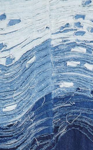 Frayed Wave Long Denim Coat by Alena Akhmadullina