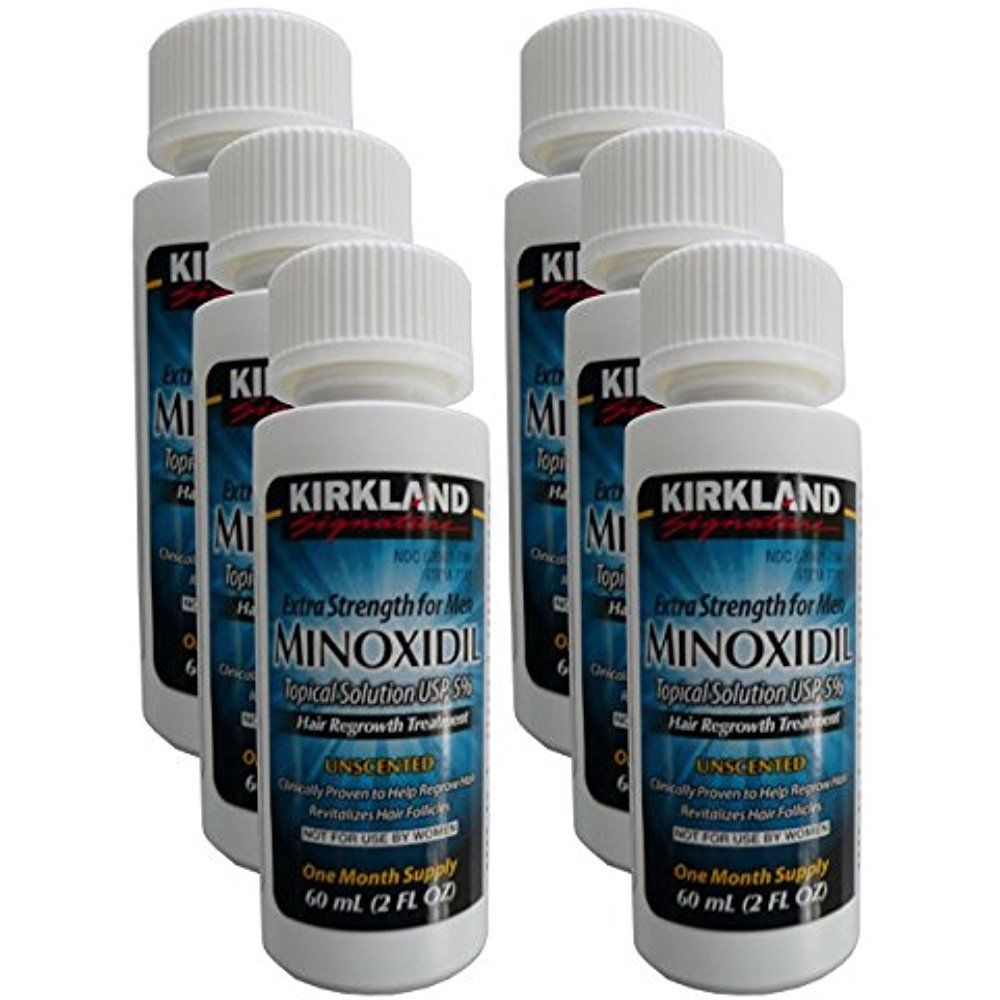 6 months kirkland minoxidil 5 men hair loss regrowth
