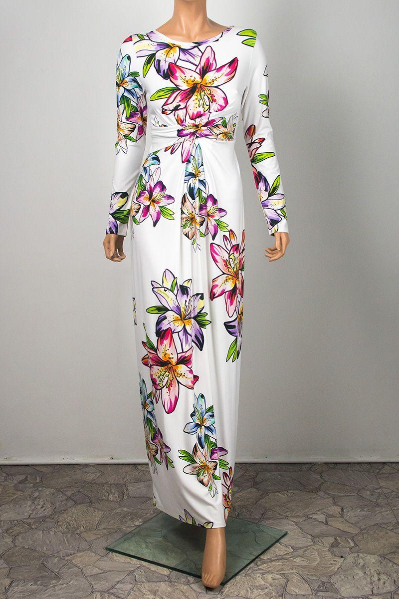 58f99014d7 Cristina Hypnotic Lily. Długa suknia w kwiaty która z powodzeniem może być  suknią ślubną.