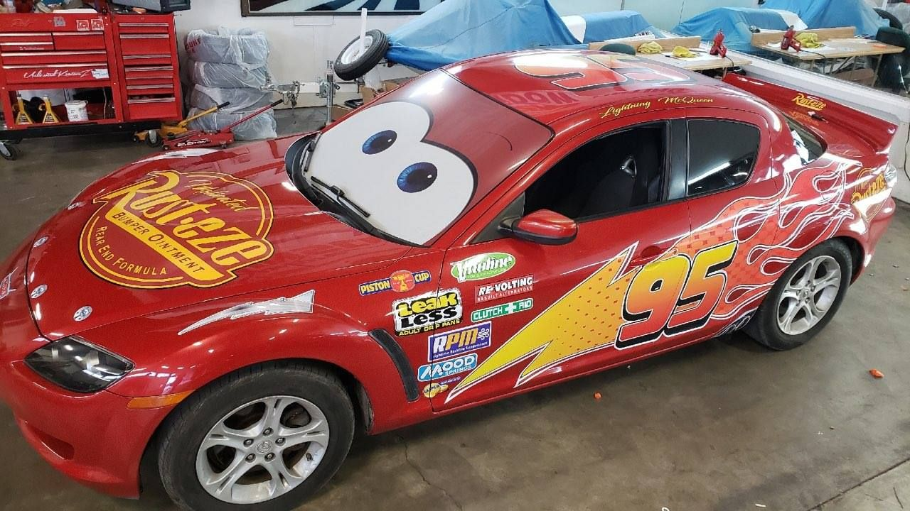 Lightning Mcqueen Car From The Movie Cars Designed And Installed