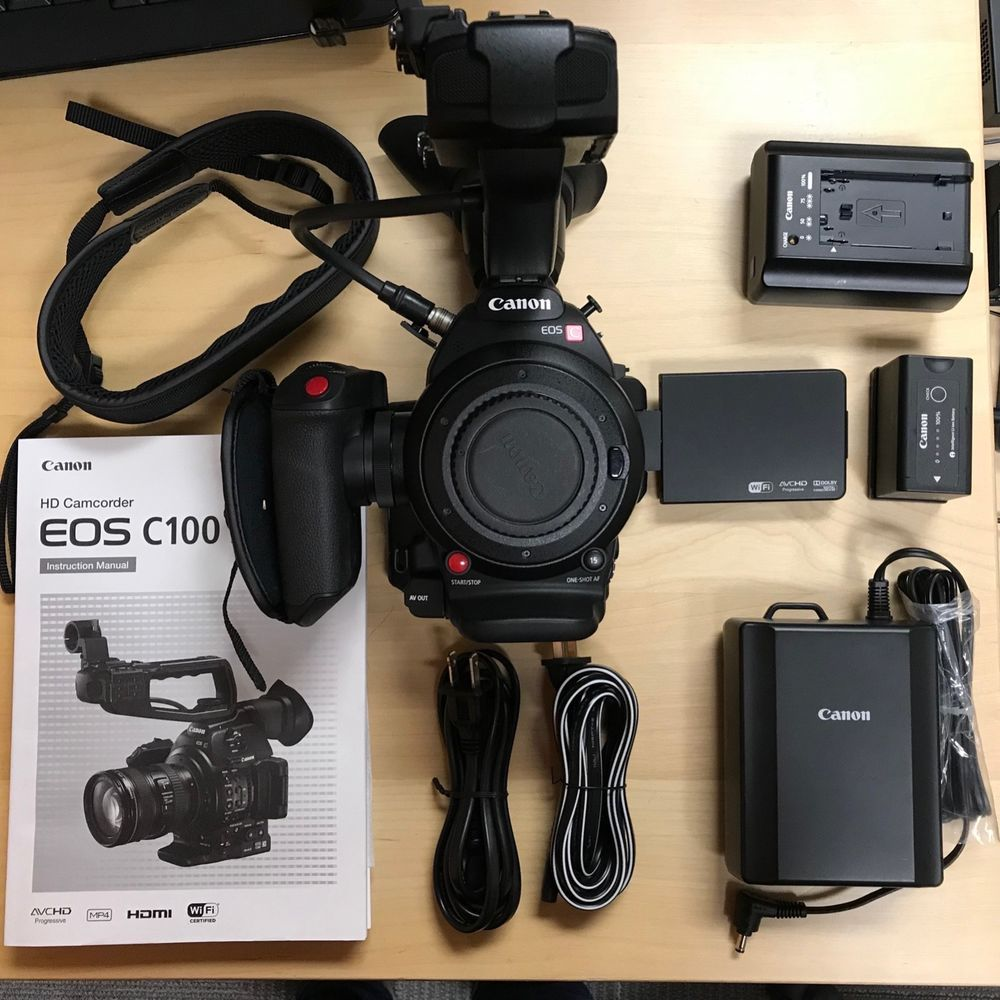 MINT Canon C100 Mark II w/ all original accessories  Only 113 Hours
