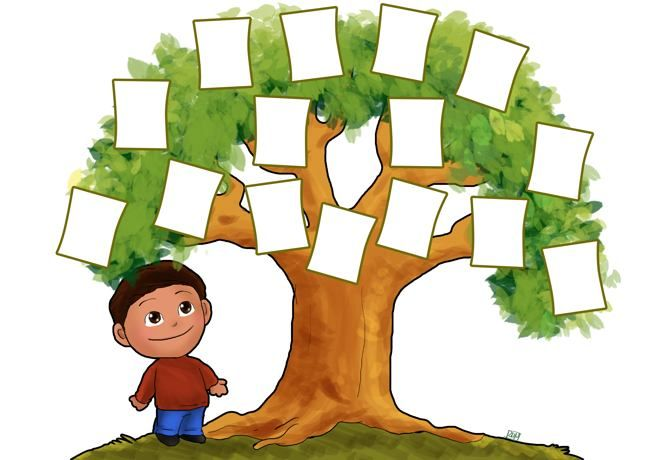 Family tree template for kids family tree template Pinterest