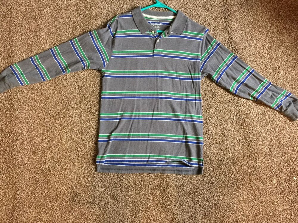 52a9ae87 Faded Glory Boys Striped Long Sleeve Polo #fashion #clothing #shoes  #accessories #kidsclothingshoesaccs #boysclothingsizes4up (ebay link)