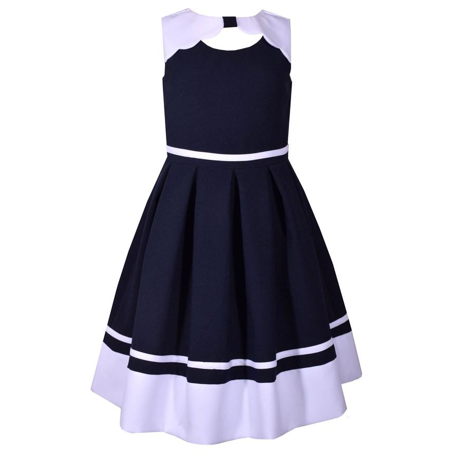 d7b0a0597dd Girls 7-16 Bonnie Jean Poplin Nautical Dress, Girl's, Size: 8, Blue