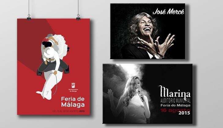 #Jerez esta de enhorabuena 16 agosto #FeriaMLG @josemercemusic y @marinagh22 actuaran en #Malaga vaya dos conciertos