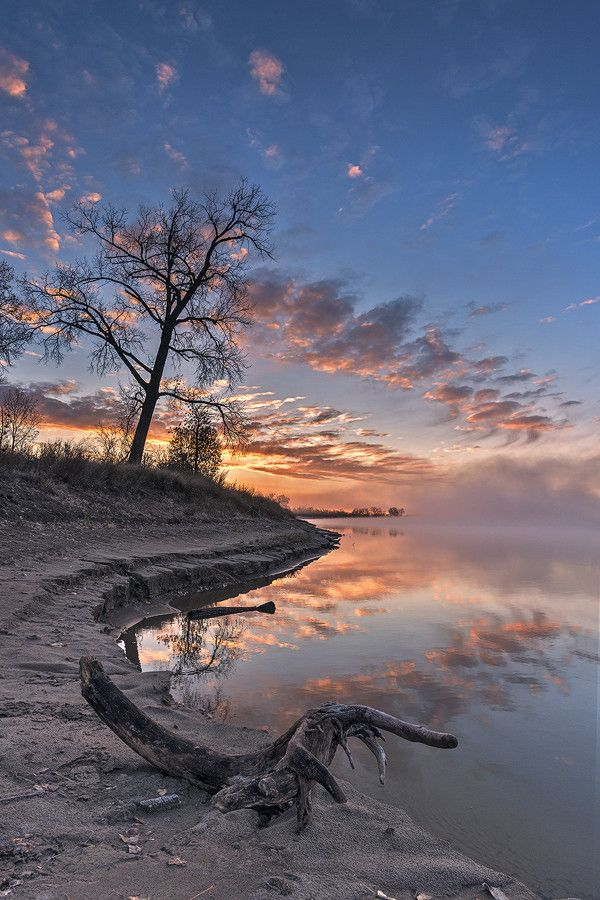 River Fog, Bismarck, North Dakota, USA, by Marshall Lipp on 500px