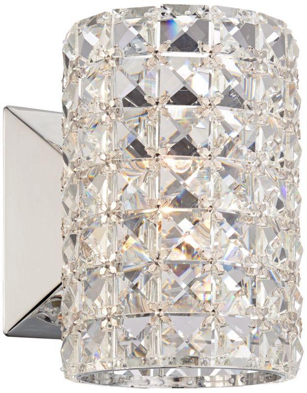 Halogen Bathroom Sconces crystal cylinder halogen vienna full spectrum wall sconce - euro
