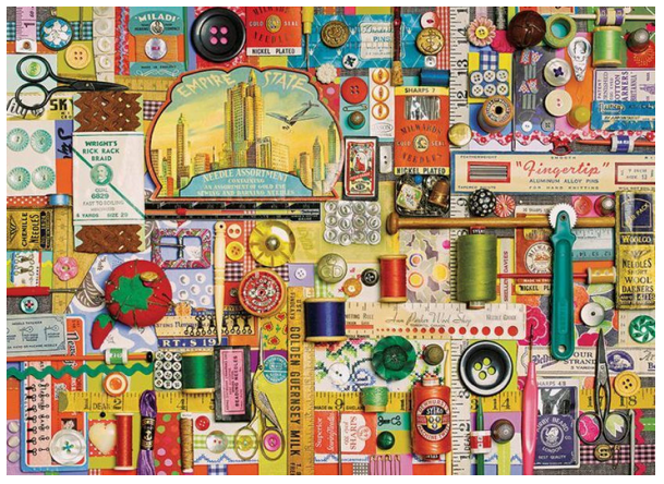 sewing notions puzzle by shelley davies, available at barnes & noble 2 - LOOK FOR LARGER