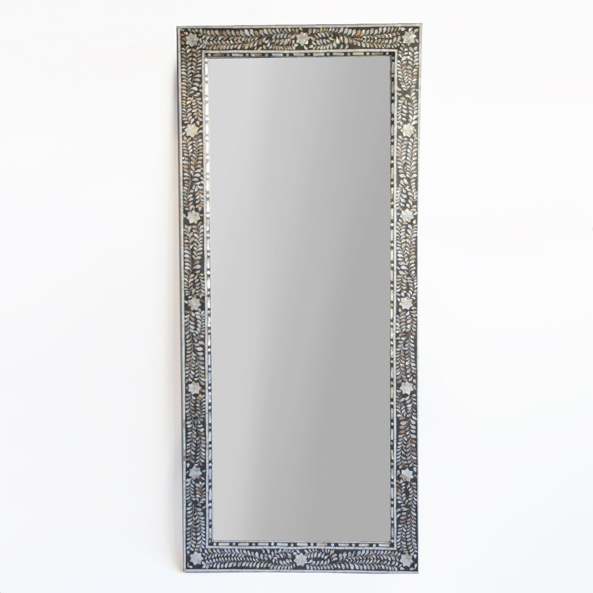 Beautiful Full Length Intricate Mother Of Pearl Mirror