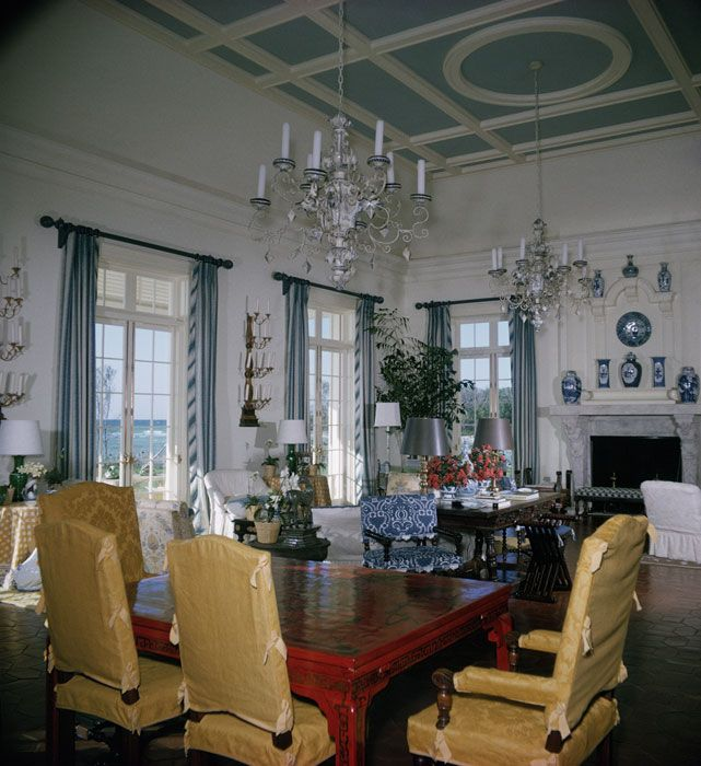 Babe Paley's Living Room At Lyford Cay