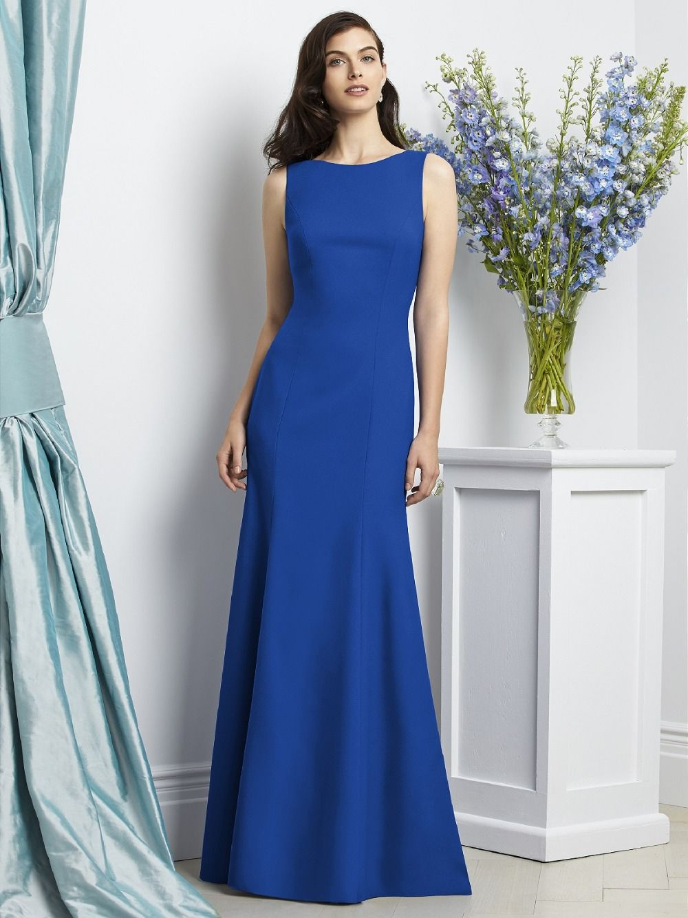 Click to buy ucuc fashion modest custom made royal blue vintage