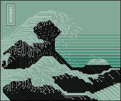 Katsushika Hokusai Electronic Circuit Board Art Print #PCB ...