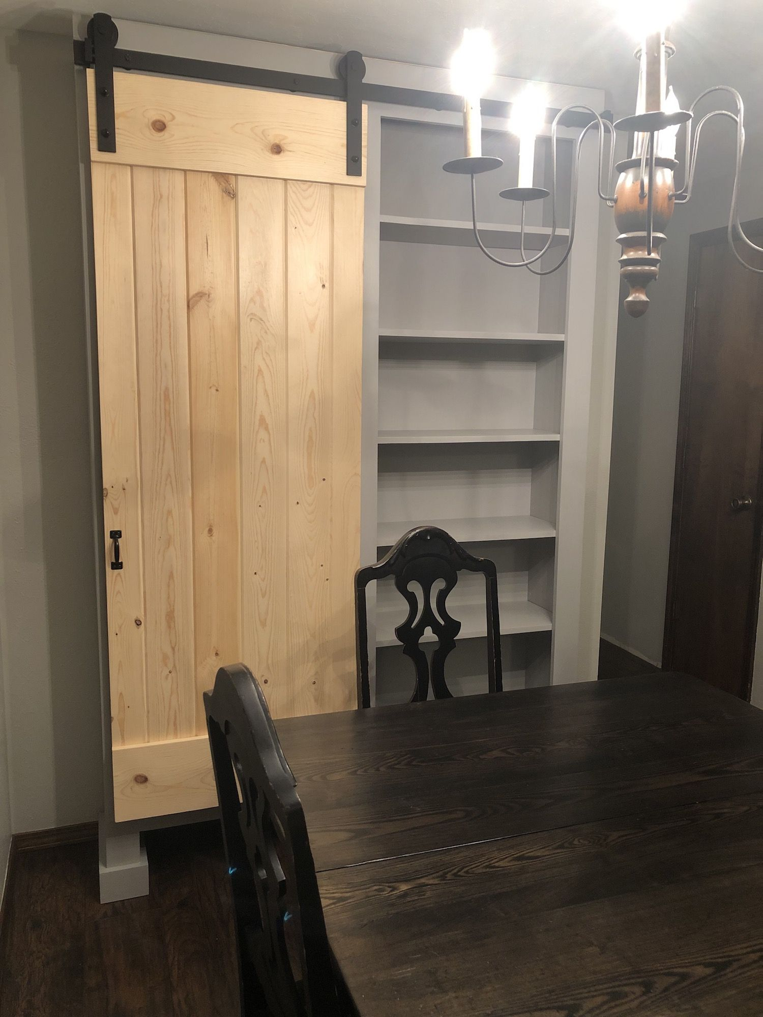 Ana white free standing barn door diy projects