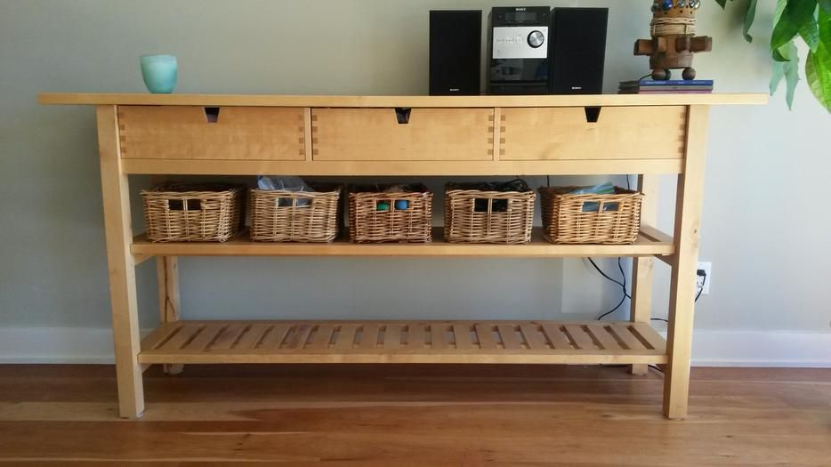 25 Ways To Use And Hack IKEA Norden Buffet Living room