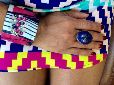 Don't be afraid of wearing a bold cuff bracelet!  Design by Maya @ BanglesGirl! Find me on Etsy