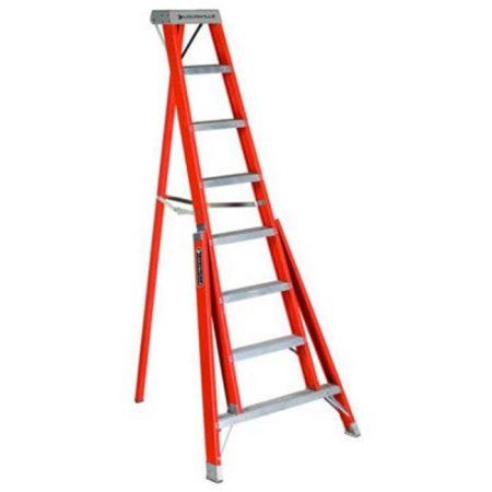 Louisville Ladder 528564 Tripod Step Ladder 8 Ft Orange Ladder Step Ladders Fiberglass