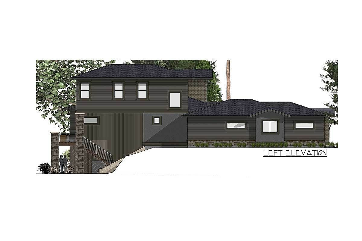 Plan 64452sc House Plan For A Rear Sloping Lot In 2020 Craftsman House Plans House Plans House
