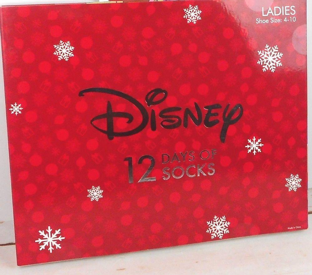 disney womens 12 days of christmas socks advent princess target size 4 10