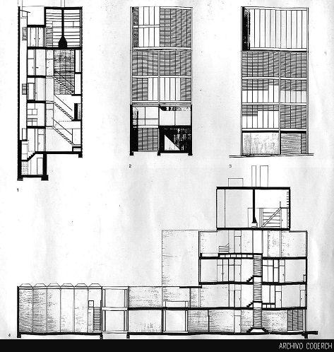 Casa tapies jos antonio coderch de sentmenat coderch - Escuela de arquitectura de barcelona ...