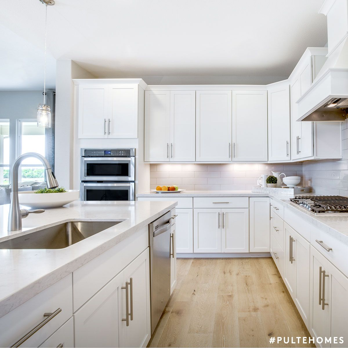 Even On Monday This Fresh White Kitchen Feels Like Sunday Pulte Homes Modern Kitchen Floor Plans Log Home Kitchens Kitchen Floor Plans