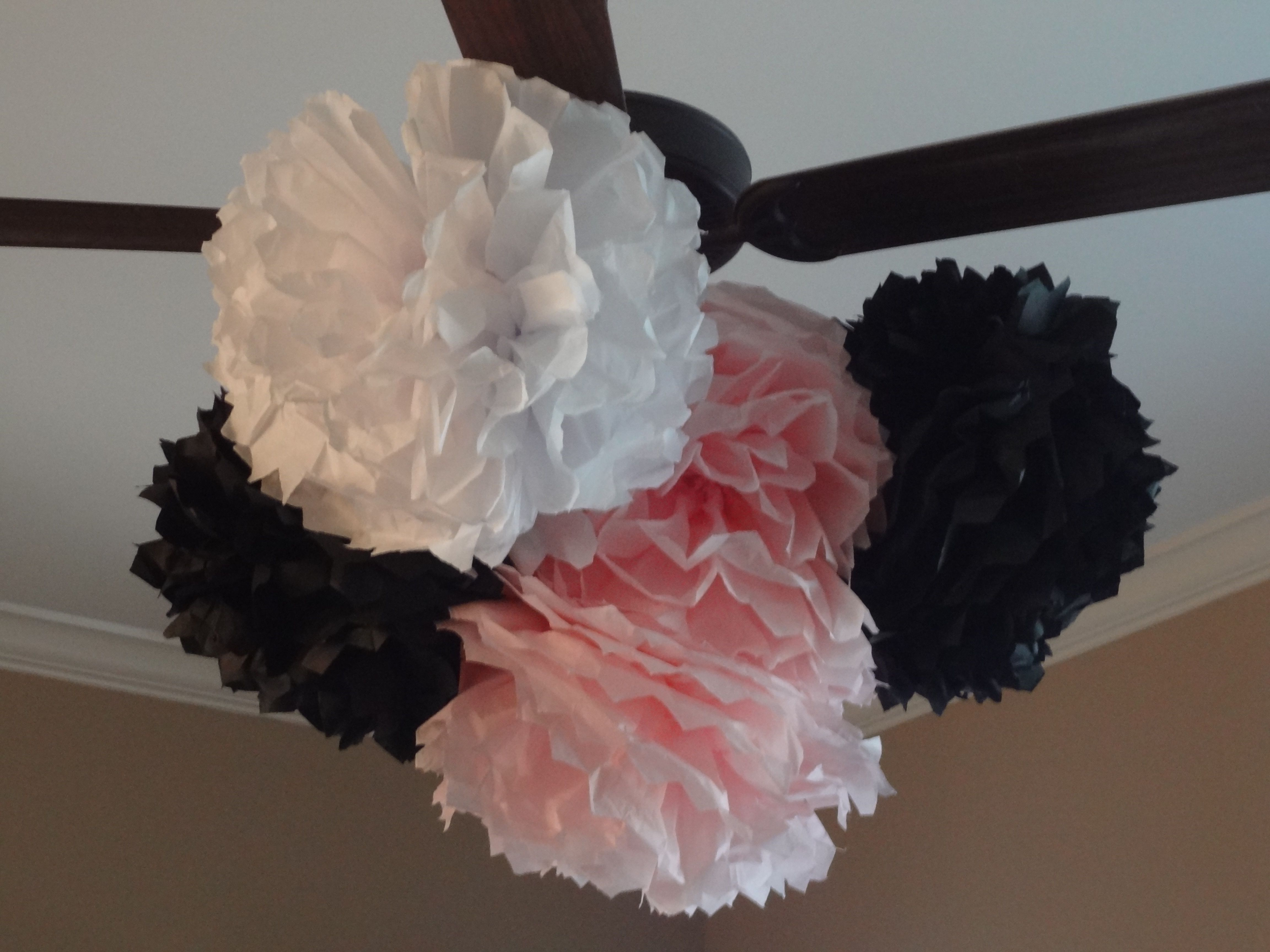 Tissue paper flowers for decorations