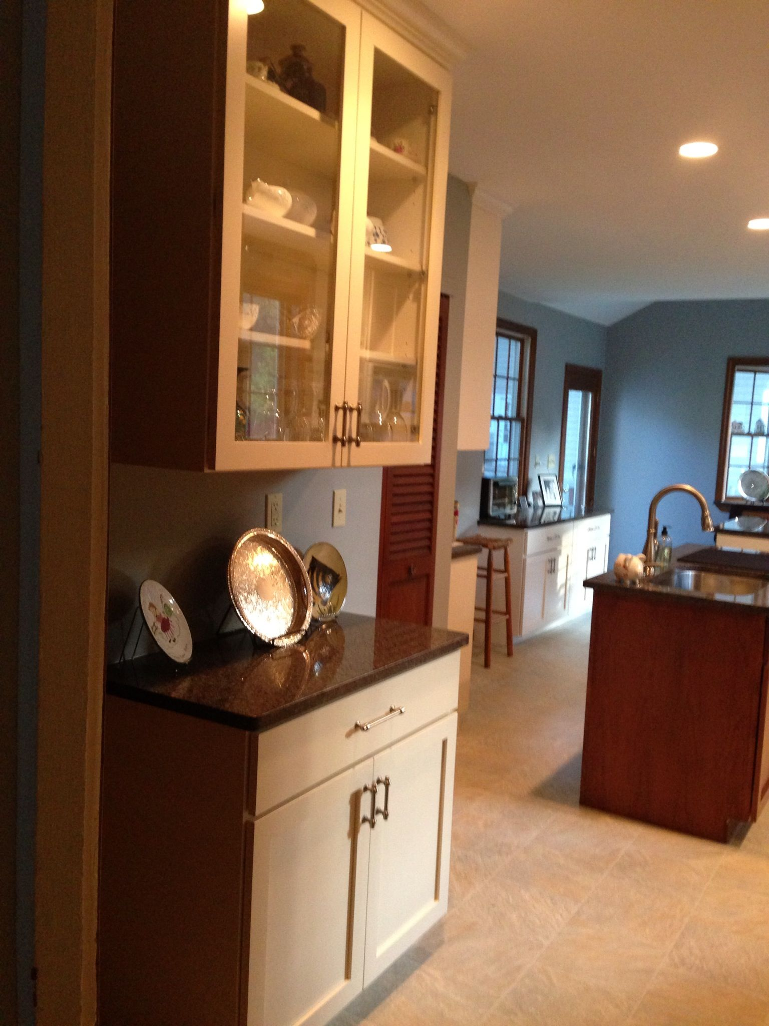 Built in china cabinet | New kitchen, China cabinet, Room