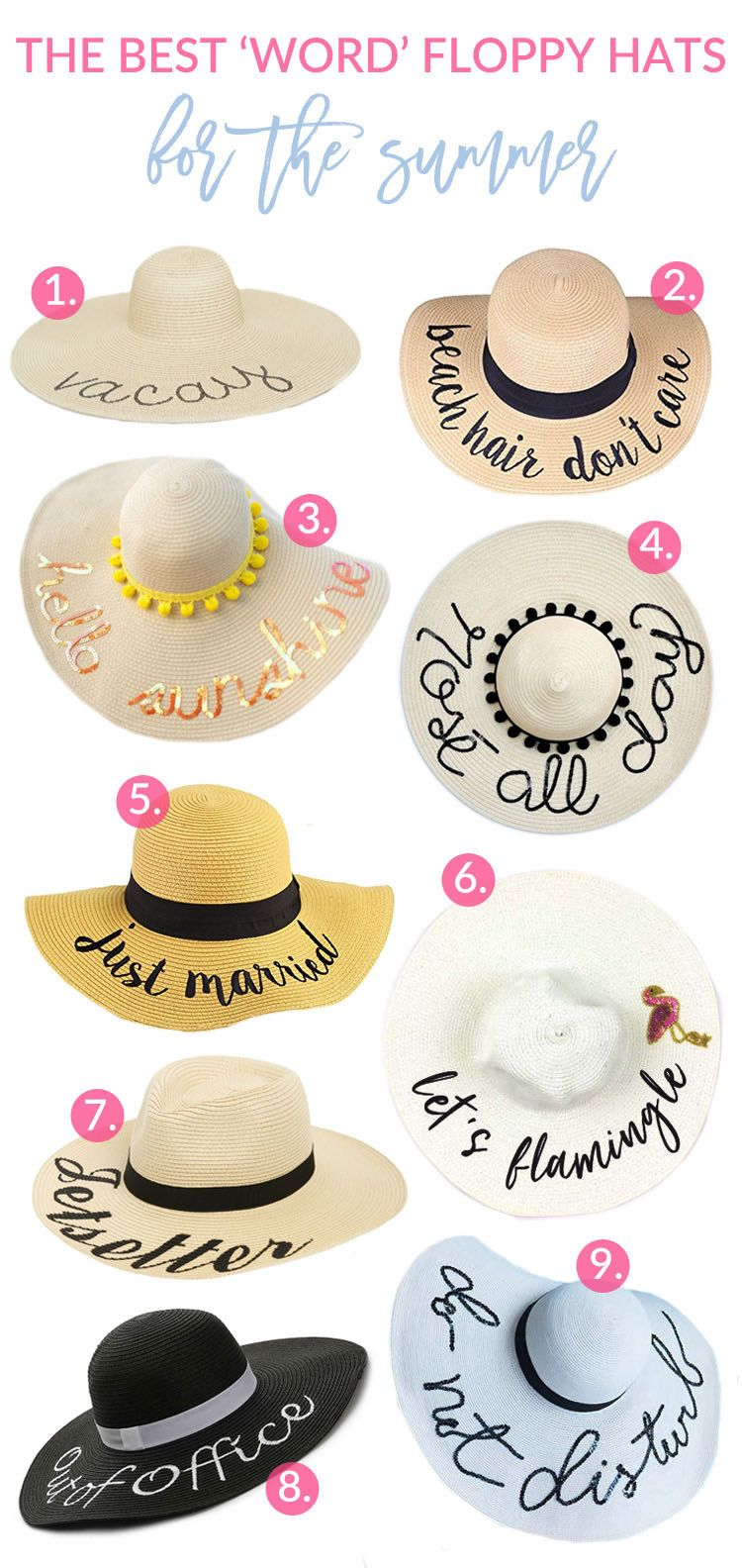 930fb49a1 Sandy a la Mode rounds up 9 of the cutest word floppy hats out there
