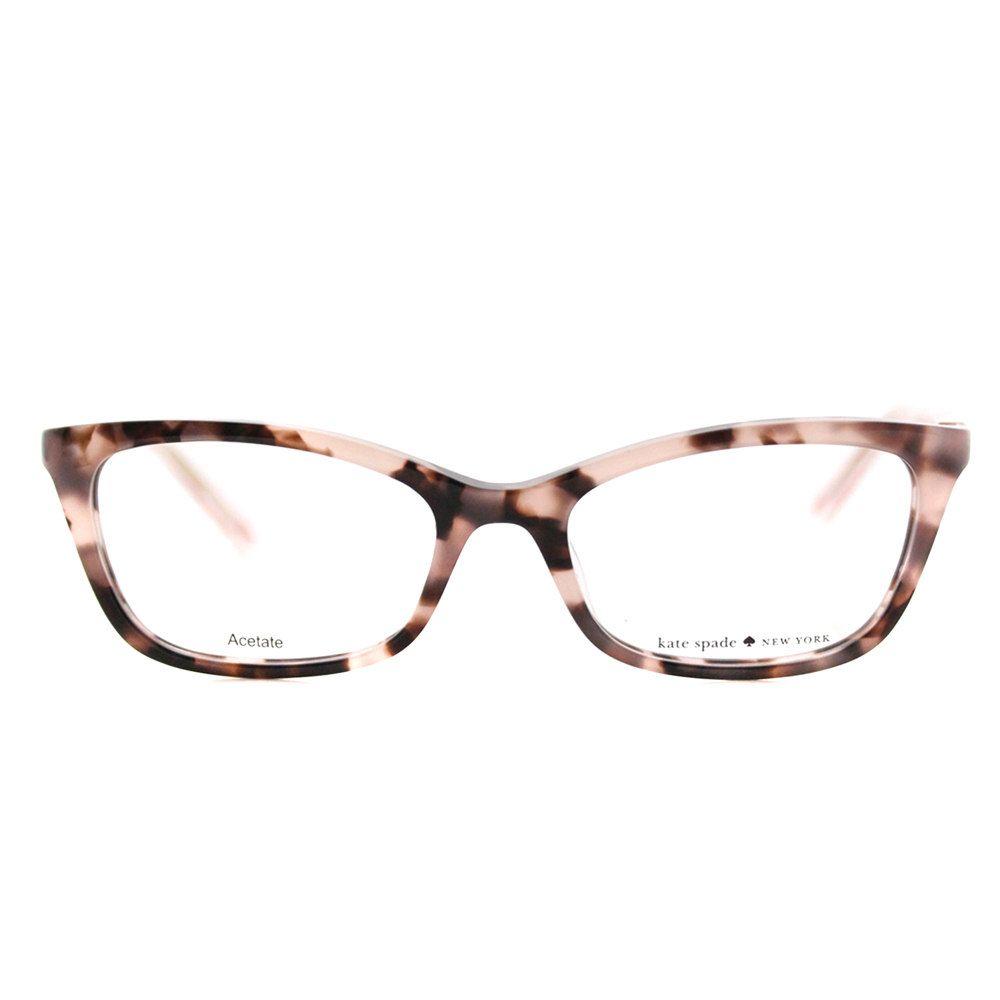 2568b9f6e1c9c Kate Spade Eyeglasses Authentic Cat Eye Frames With Lenses Gafas. Kate Spade  Women  s KS Delacy RS3 Havana Rose Plastic 52mm Cat-Eye