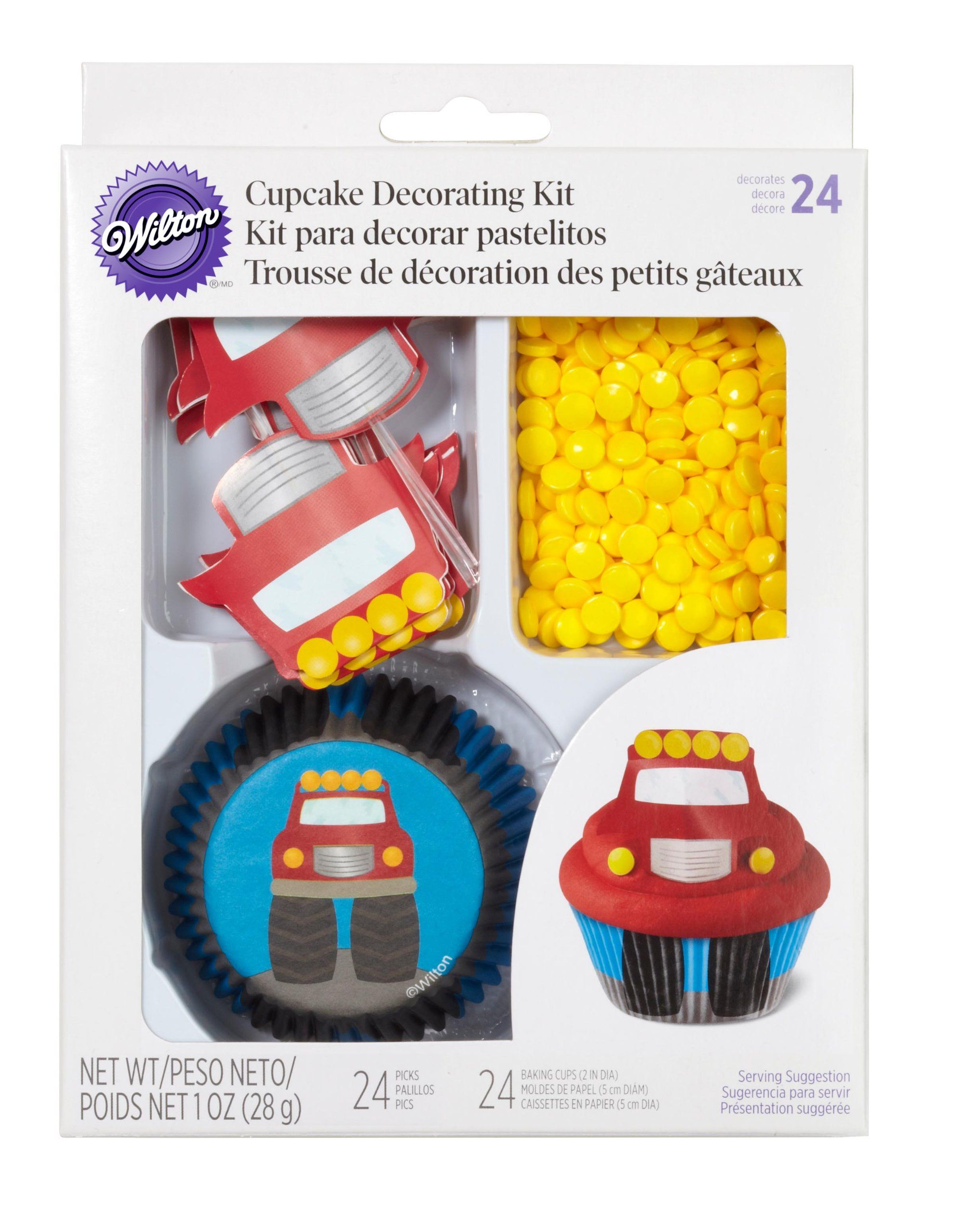 Amazoncom Wilton 4152195 48 Count Fire Truck Cupcake Decorating