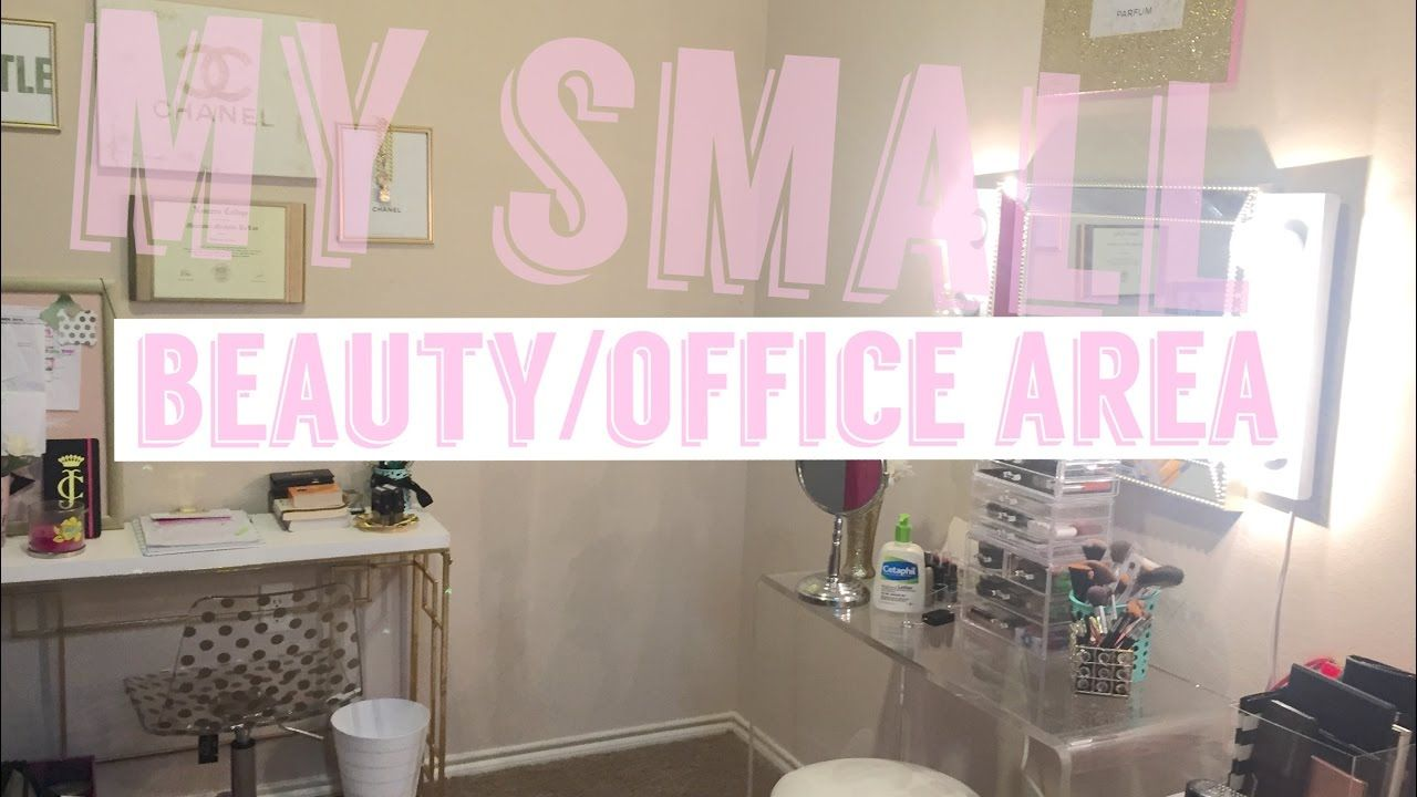 My small Beauty/Office Area TOUR! Beauty room, Small